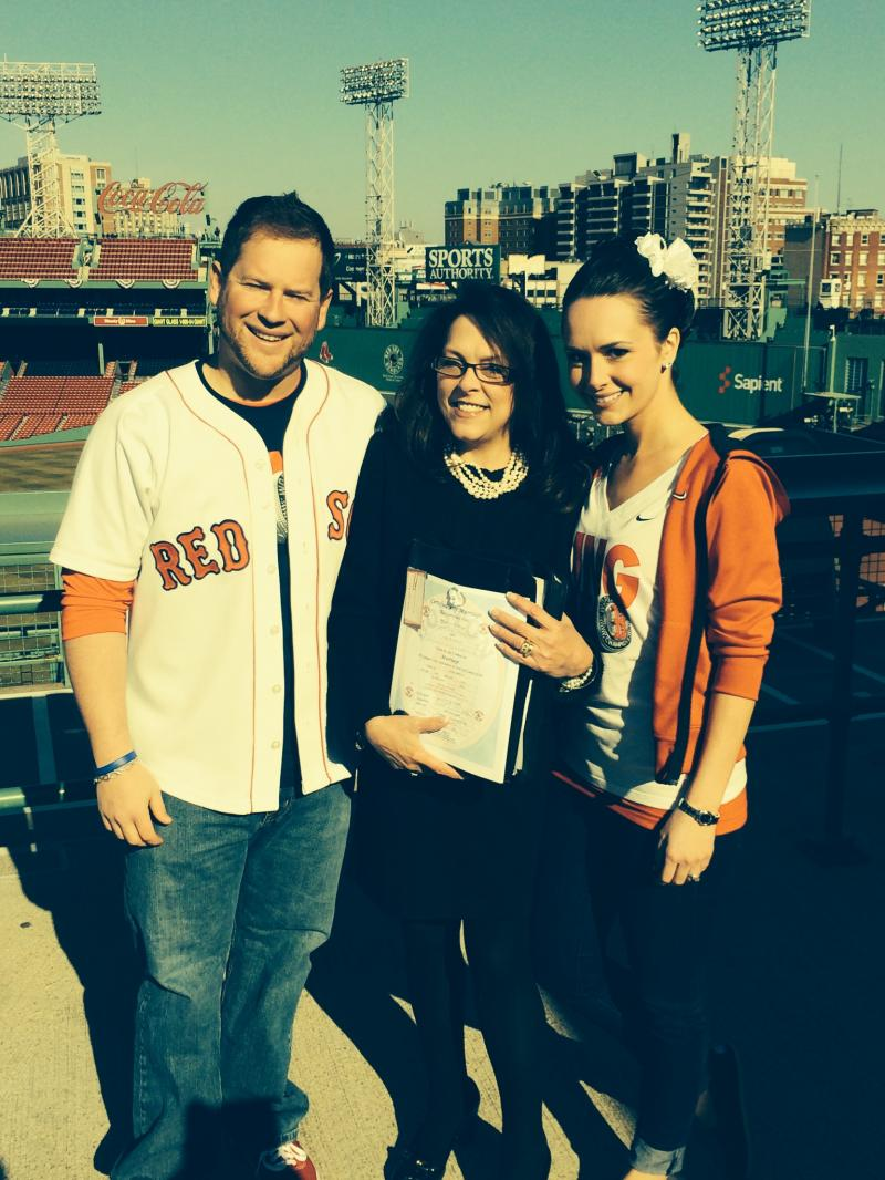 Wedding of Shannon & Cody, Fenway Park ~ Opening Day 4-4-2014